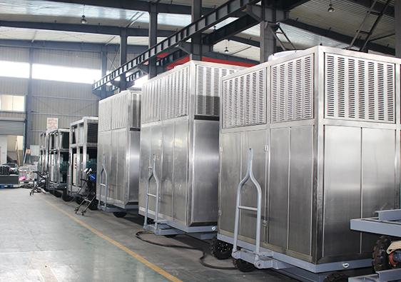 宿迁客户订购的谷物冷却机进入检测阶段